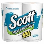 Scott Rapid Dissolve Bath Tissue, White