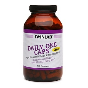 Twinlab Daily One, Without Iron, Capsules- 180 ea