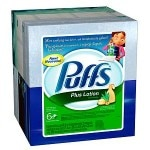 Puffs Plus Lotion Facial Tissues, 6 boxes (68 count each)