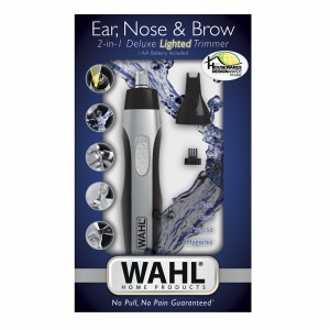 Wahl Ear, Nose & Brow 2-in-1 Deluxe Lighted Trimmer- 1 ea