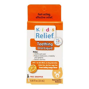 Homeolab USA Kids Relief Teething Oral Liquid, Ages 0-9, Orange- .85 fl oz