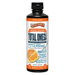 Barlean's Organic Oils Total Omega 3-6-9 Swirl, Orange Cream- 16 fl oz
