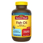 Nature Made Fish Oil 1000mg, 300mg Omega-3, Liquid Softgels