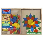 Melissa and Doug Pattern Blocks and Boards, Ages 3+- 1 ea