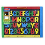 Melissa and Doug Magnetic Chalkboard/Dry-Erase Board, Ages 3+- 1 ea