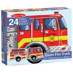Melissa and Doug Giant Fire Truck Floor (24 pc) Ages 3+