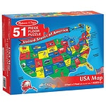 Melissa and Doug U.S.A. Map Floor (51 pc) Ages 6+- 1 ea