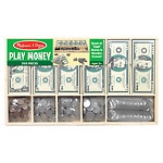 Melissa and Doug Play Money Set, Ages 3+- 1 ea