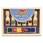 Melissa and Doug Happy Handle Stamp Set Ages 4+- 1 ea