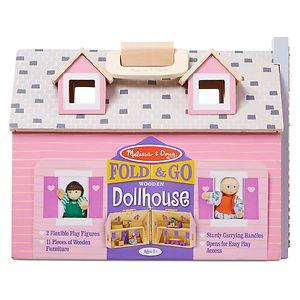 Melissa and Doug Fold & Go Dollhouse, Ages 3+- 1 ea