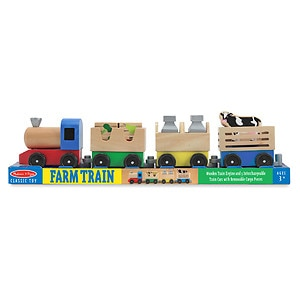 Melissa and Doug Wooden Farm Train, Ages 3+