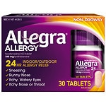Allegra 24 Hour Allergy,  180mg Tablets- 30 ea