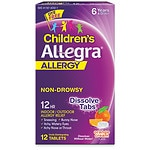 Allegra Children's 12 Hour Allergy, Orally Disintegrating Tablets, Orange Cream