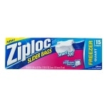 Ziploc Slider Freezer Bags, Quart- 15 ea