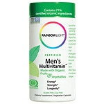 Rainbow Light Certified Organic Men's Multivitamin, Vegetarian Capsules