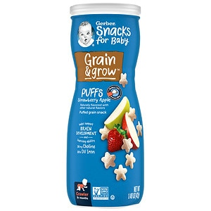 Gerber Graduates Puffs Cereal Snack, Strawberry-Apple, 1.48 oz