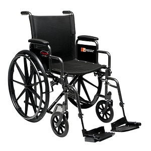 Everest & Jennings Advantage Manual Folding Wheelchair-Detach Desk Arm Swingaway Footrest- 1 ea