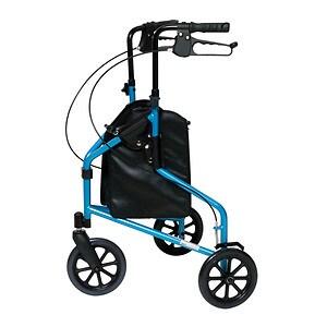 Lumex 3 Wheel Cruiser Aluminum Light Weight 250lb Weight Capacity, Blue