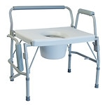 Lumex Imperial Collection-Steel Commode-3 In 1 Drop Arm 600#