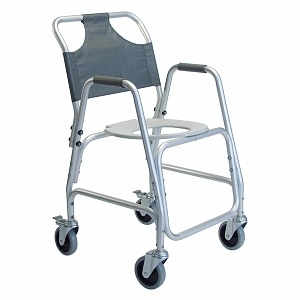 Lumex Shower Chair Aluminum With Casters And Foot Rests-Lumex- 1 ea