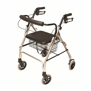 Lumex Walkabout Lite 4 Wheel Rollator, Champagne