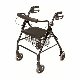 Lumex Walkabout Lite 4 Wheel Rollator, Black