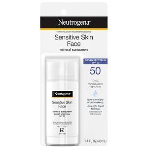 Neutrogena Pure & Free Liquid Sunscreen, SPF 50- 1.4 oz