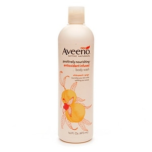 Aveeno Active Naturals Positively Nourishing Antioxidant Infused Body Wash, White Peach + Ginger