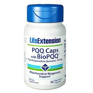 Life Extension PQQ Caps with BioPQQ, 10mg, Vegetarian Capsules- 30 ea