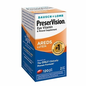 PreserVision Eye Vitamin and Mineral Supplement With Lutein, Softgels- 120 ea