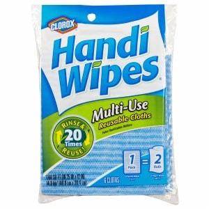 Clorox Handi Wipes Multi-Use Reusable Cloths, Single Facing, 6 ea (012587159606)