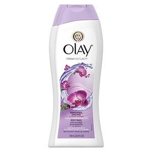 Olay Fresh Outlast Body Wash, Soothing Orchid & Black Currant