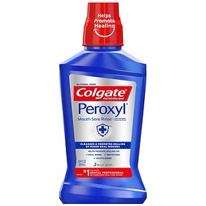 Colgate Peroxyl Mouth Sore Rinse, Antiseptic Oral Cleanser & Rinse, Mint- 8 fl oz