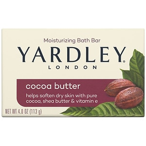 Yardley of London Naturally Moisturizing Bath Bar, Cocoa Butter