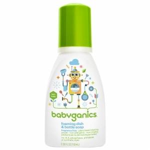 Babyganics Foaming Dish & Bottle Soap, Fragrance Free