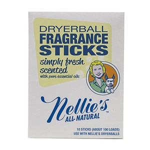 Nellie's All Natural Dryerball Fragrance Sticks, Simply Fresh- 10 ea