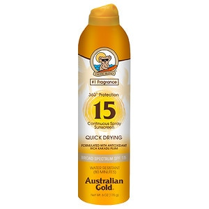 Australian Gold Continuous Spray, SPF 15, Clear- 6 fl oz