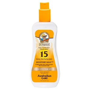 Australian Gold Clear Spray Gel, SPF 15- 8 fl oz