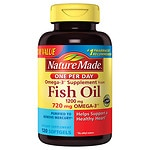 Nature Made One Per Day Fish Oil, 1200mg, Liquid Softgels