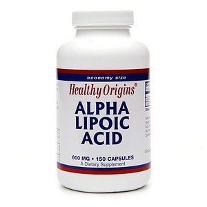 Healthy Origins Alpha Lipoic Acid, 600mg, Capsules- 150 ea