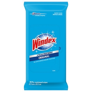 Windex Original Clean & Dust Wipes Flat Pack- 28 ea