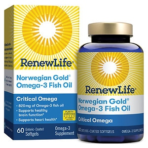ReNew Life Norwegian Gold Critical Omega, Fish Gels