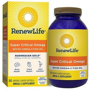 ReNew Life Norwegian Gold Super Critical Omega, Fish Gels, Orange- 30 ea