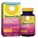 ReNew Life Ultimate Flora Vaginal Support, 50 Billion, Vegetable Capsules