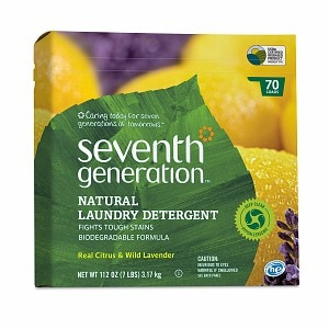 Seventh Generation Natural Laundry Detergent Powder, 70 Loads, Real Citrus & Wild Lavender