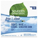Seventh Generation Natural Laundry Detergent Powder, 70 Loads, Free & Clear- 112 oz