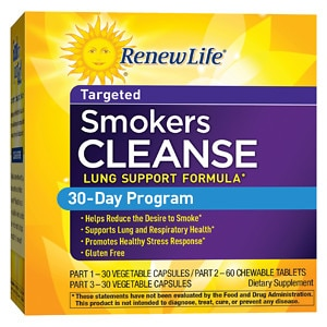 ReNew Life Smokers' Cleanse, 30 Day Program- 1 set