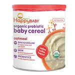 Happy Baby Organic Probiotic Baby Cereal: Oatmeal