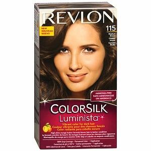 Revlon ColorSilk Luminista Vibrant Color for Dark Hair, Medium Brown 115- 1 ea
