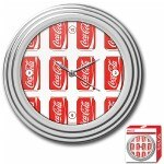 Trademark Global Coca-Cola Clock, Cans Style, Chrome Finish,